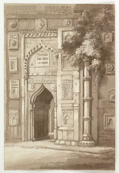 'Entrance to the Mosque at Hadjipore.  Novbr. 1831'